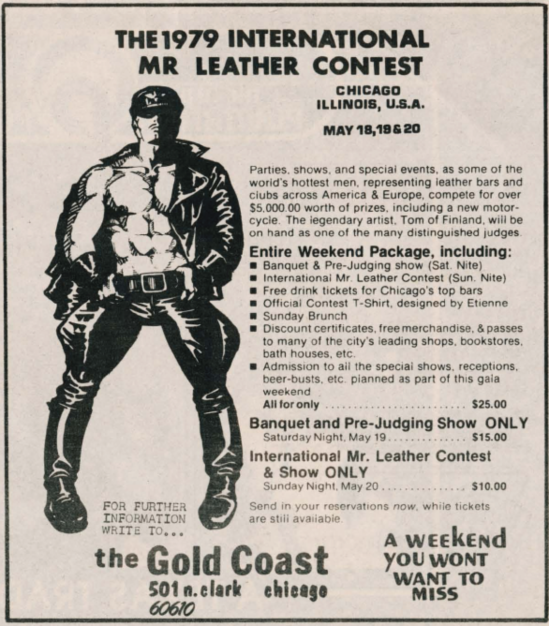 A Glimpse Into Early Gay Leather Contests