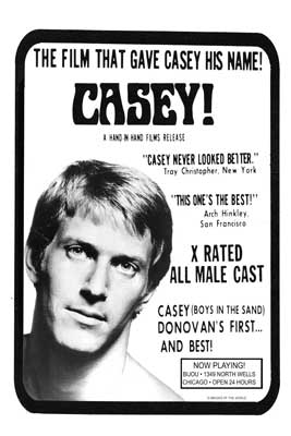 Gay movie poster for the classic porn film Casey at Bijouworld
