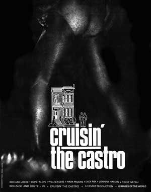 Gay movie poster for the vintage porn film Cruisin the Castro at Bijouworld
