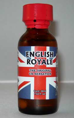 English Royale Poppers used for sex by gay men