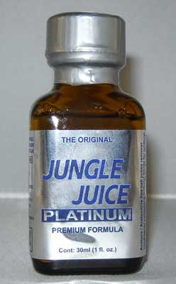 Jungle Juice Platinum Poppers used for sex by gay men
