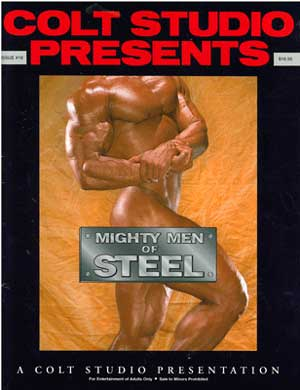 Vintage gay porn magazine, Mighty Men of Steel, Colt Studio, naked men, muscles