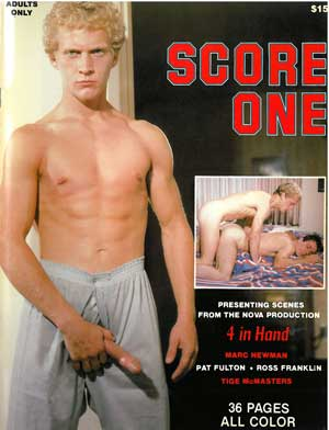 Score One vintage gay magazine from Nova Studios, nude young guys big dick