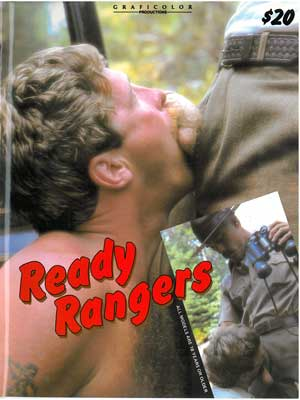 Ready Rangers vintage porn magazine, Al Parkef's Surge Studio, sucking cock of forest ranger