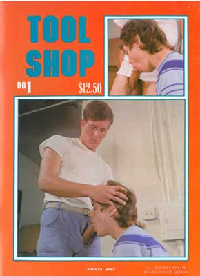 Tool Shop 1 vintage gay sex magazine from Nova, naked young guys, big cocks