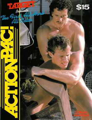 The First All-Hard All-Color Action Pac! gay sex magazine, Target Studio, nude men, muscles