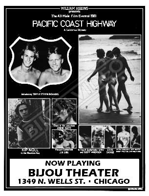 Gay movie poster for the vintage porn film Pacific Coast Highway at Bijouworld