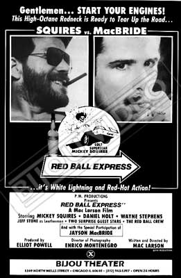 Gay movie poster for the vintage porn film Red Ball Express at Bijouworld
