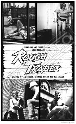 Gay movie poster for the vintage porn film Rough Trades at Bijouworld