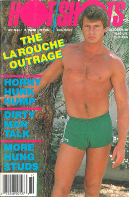 Hot Shots, October 1986, vintage gay porn magazine, jack off stories, naked guys