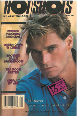 Hot Shots, April 1988, vintage gay sex magazine, jerk off stories, hot naked guys