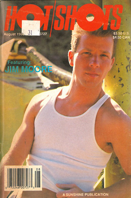 Vintage gay porn magazine, Hot Shots, Aug 1988, jerk off stories, naked guys