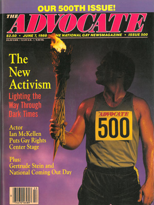 The Advocate, June 7, 1988, No. 500, vintage gay magazine, the new activism