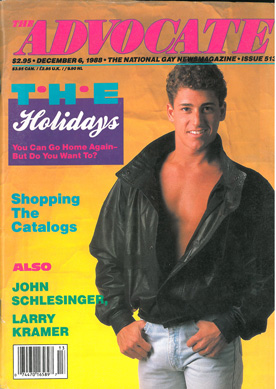 The Advocate, 1988, Dec. 6, No. 513, vintage gay magazine, holiday issue