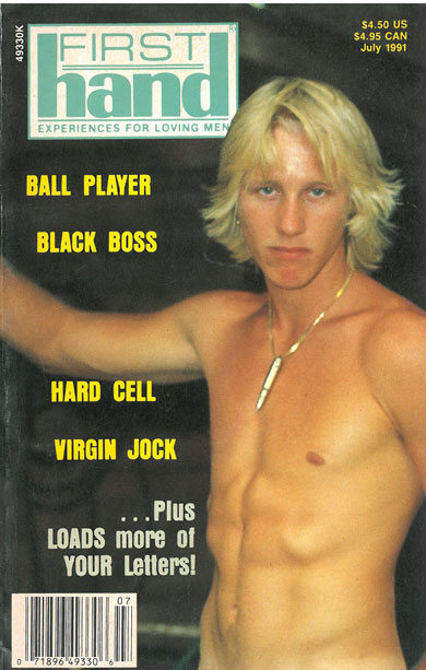 Vintage gay sex magazine, First Hand, Vol. 11, No. 7, July 1991, young blond guy