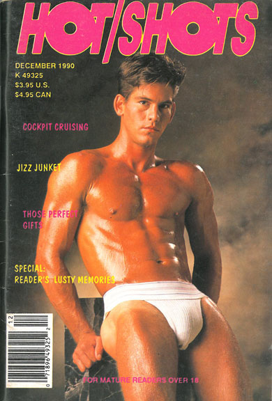 Hot Shots, December 1990, vintage gay sex magazine, hot young muscle stud