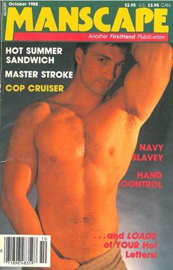 Manscape, Vol. 4, No. 8, October 1988, vintage gay sex magazine, gay sex, jack off stories