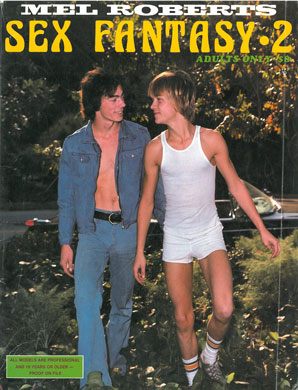 Mel Roberts Sex Fantasy, N2 Aug 1981, vintage gay porn magazine, young gay couple long hair outside