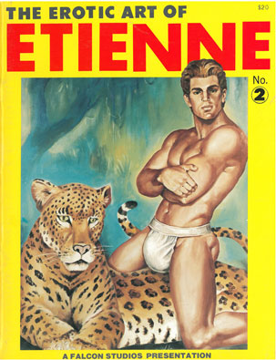 The Erotic Art of Etienne, No. 2, vintage gay sex magazine, fetish art, nude men