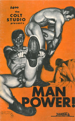 Manpower! no.1 1969, vintage homosexual magazine, Colt Studio, nude muscle guys, boots