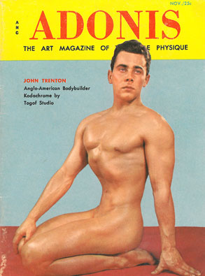 Adonis vol. 2, no. 4, 1956, vintage men's physique magazine, hot men, muscles