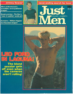 Just Men v. 1, n. 5, 1980s, vintage gay porn magazine, Leo Ford, nude men