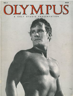 Olympus no.4 1977, vintage gay porn magazine,  Colt Studio, big naked guys, muscles