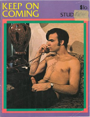 Keep On Coming 1970s, vintage gay sex magazine,  younger guys jack off