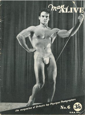 Man Alive, No. 6, 1959, vintage gay beefcake magazine, hot young muscle guys