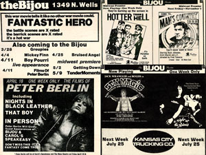 Vintage Bijou Theater Movie Ads 1 Poster