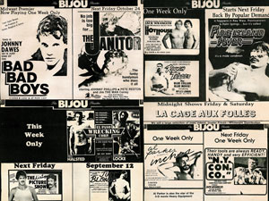 Vintage Bijou Theater Movie Ads 3 Poster
