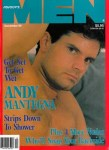 Advocate Men, December 1989, vintage gay porn magazine, Andy Mantegna