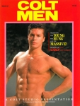 Colt Men no.27, 1992, vintage gay porn magazine, clean cut muscle guy with awesome abs