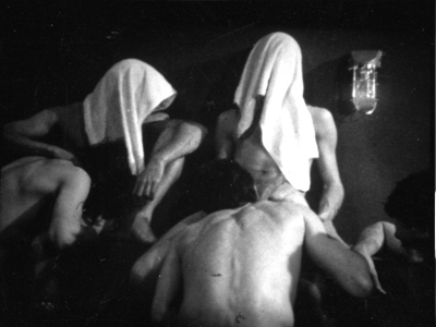 Bathhouse orgy in classic gay porn film, Drive, from Hand in Hand