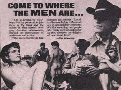Vintage 1970s gay porn film, The Magnificent Cowboys, from Jaguar