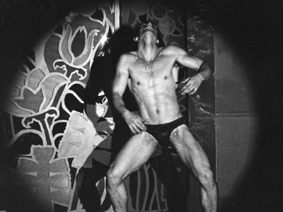 Go-go dancer in Jack Deveau's classic gay porn film, Drive