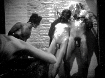 Dungeon scene in Jack Deveau's vintage gay porn film, Drive