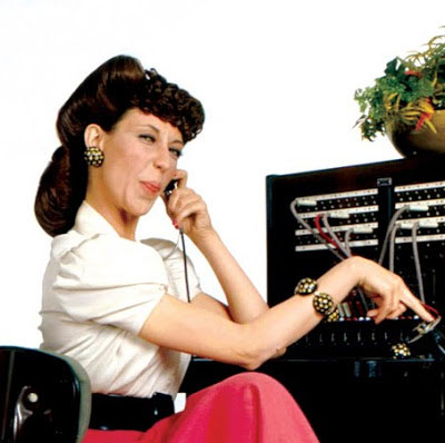 Lily Tomlin as a phone operator