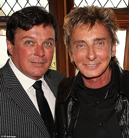 Barry Manilow with husband