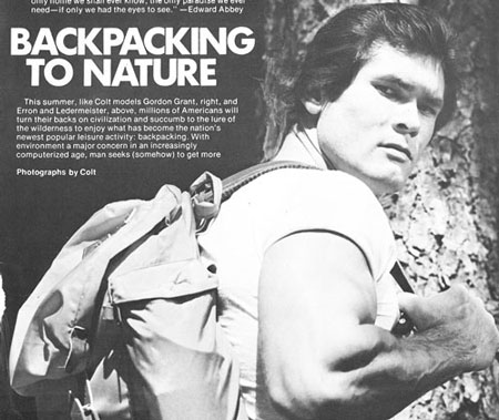 Gordon Grant - Backpacking to Nature - Colt photo