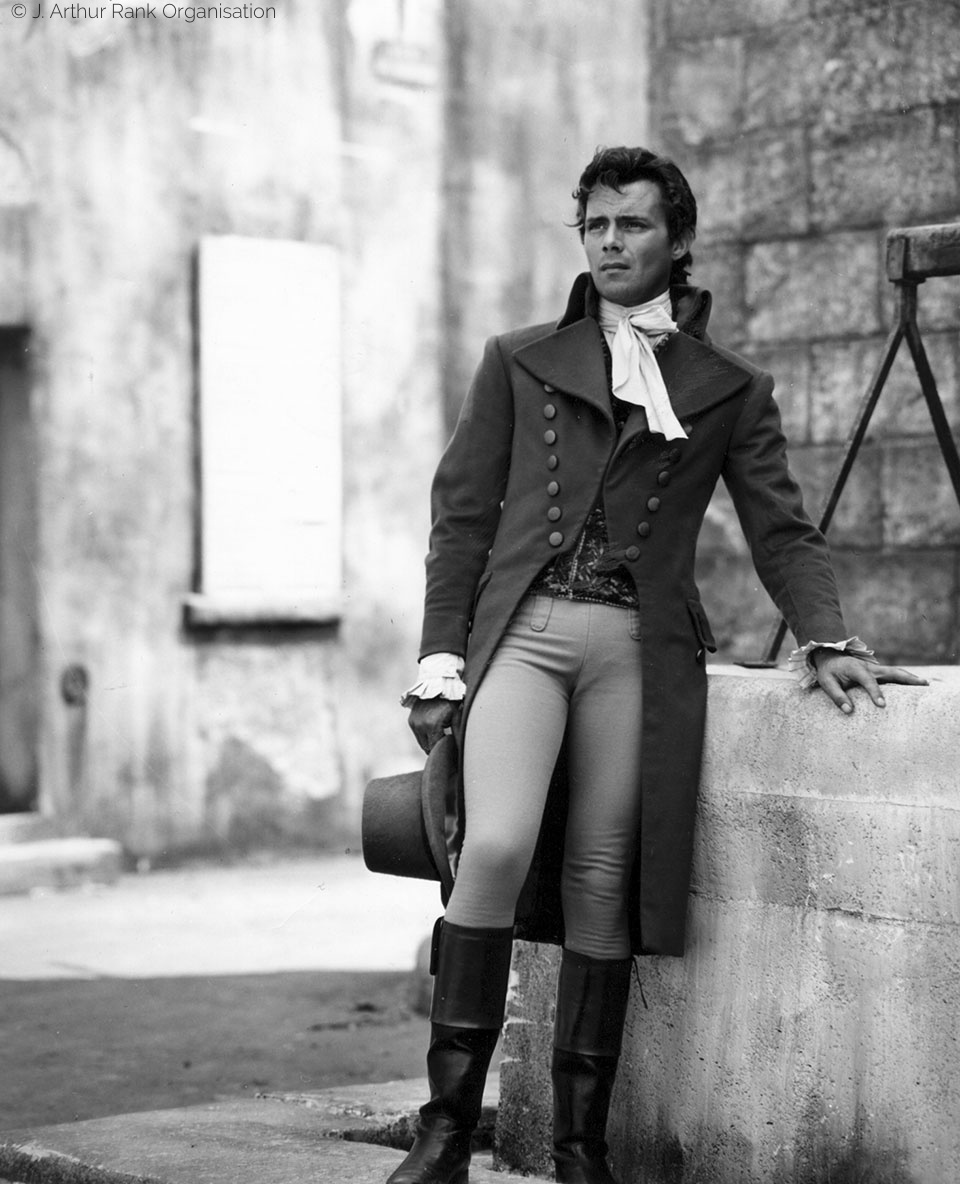 Dirk Bogarde in tight pants from A Tale of Two Cities
