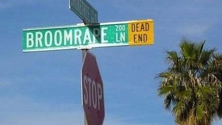Broomrape Lane sign