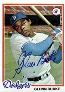 Glenn Burke Dodgers baseball calrd