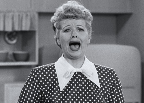 Lucy Ricardo on I Love Lucy: A Criminal!