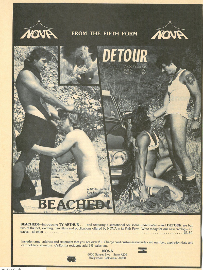 Vintage ad for Nova loops Beached and Detour