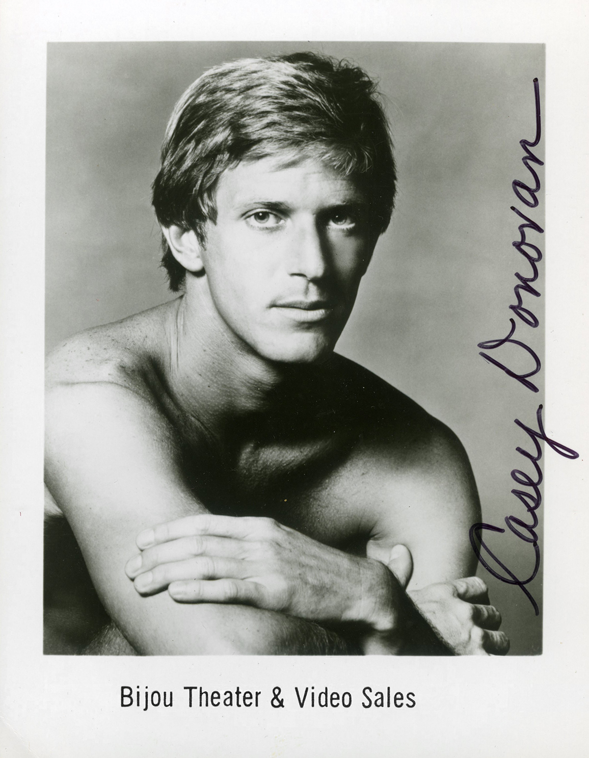 Signed Casey Donovan headshot from his Bijou appearance