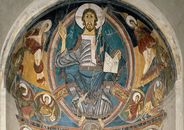 Christ as a stern judge in Romanesque painting