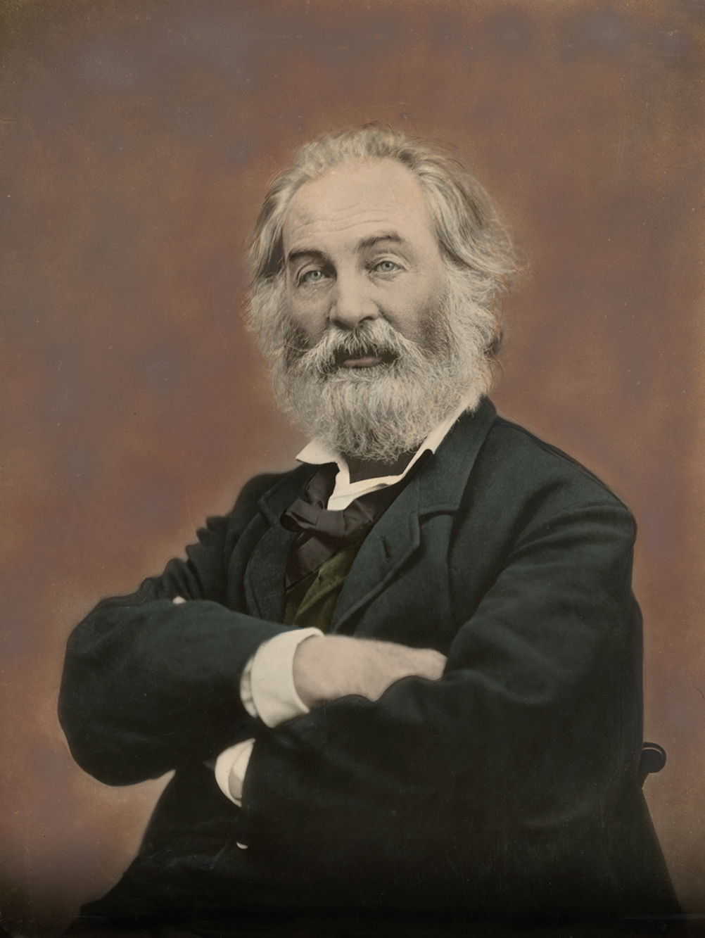 Colorized photo of Walt Whitman