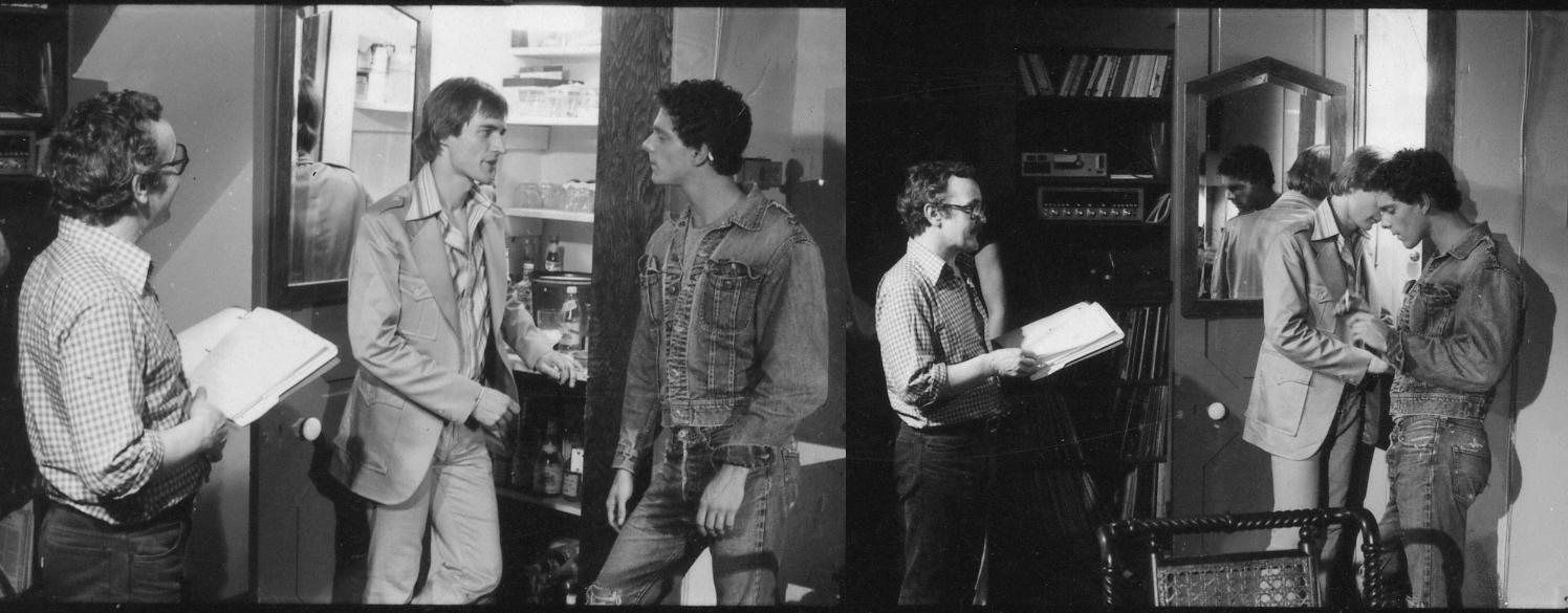 Peter de Rome directing stars Tim Kent and Philip Darden