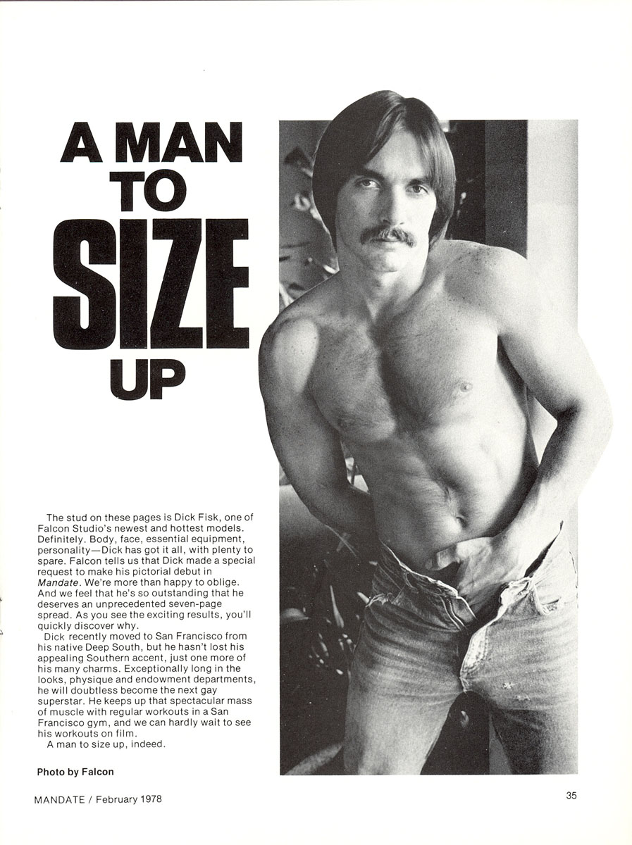 A Man to Size Up Dick Fisk spread in Mandate